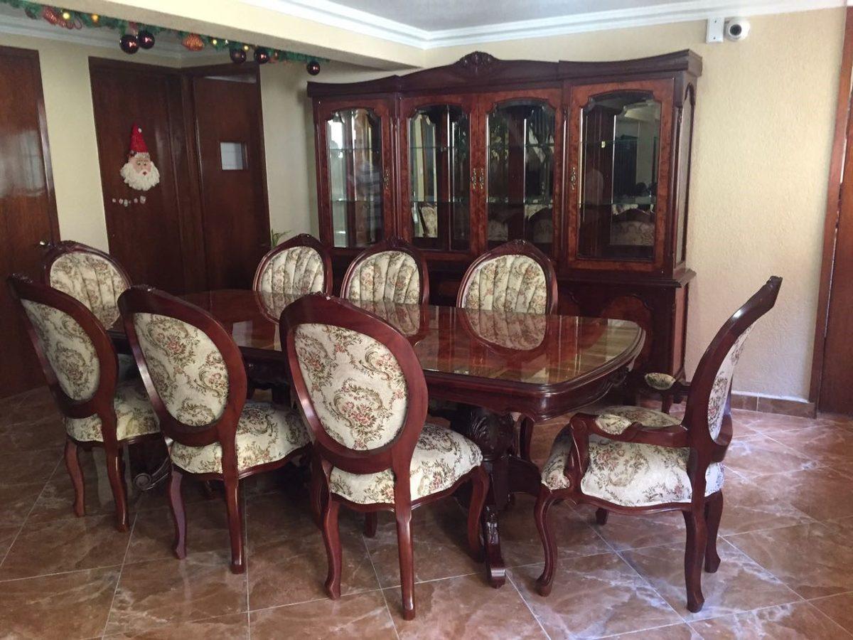 Comedor luis xv modelo abignon en cedro rojo tallado a for Ripley muebles de comedor
