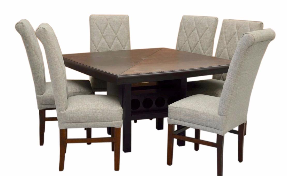 Comedor lyris fabou muebles moderno 6 sillas afelpadas for Comedor 6 sillas moderno