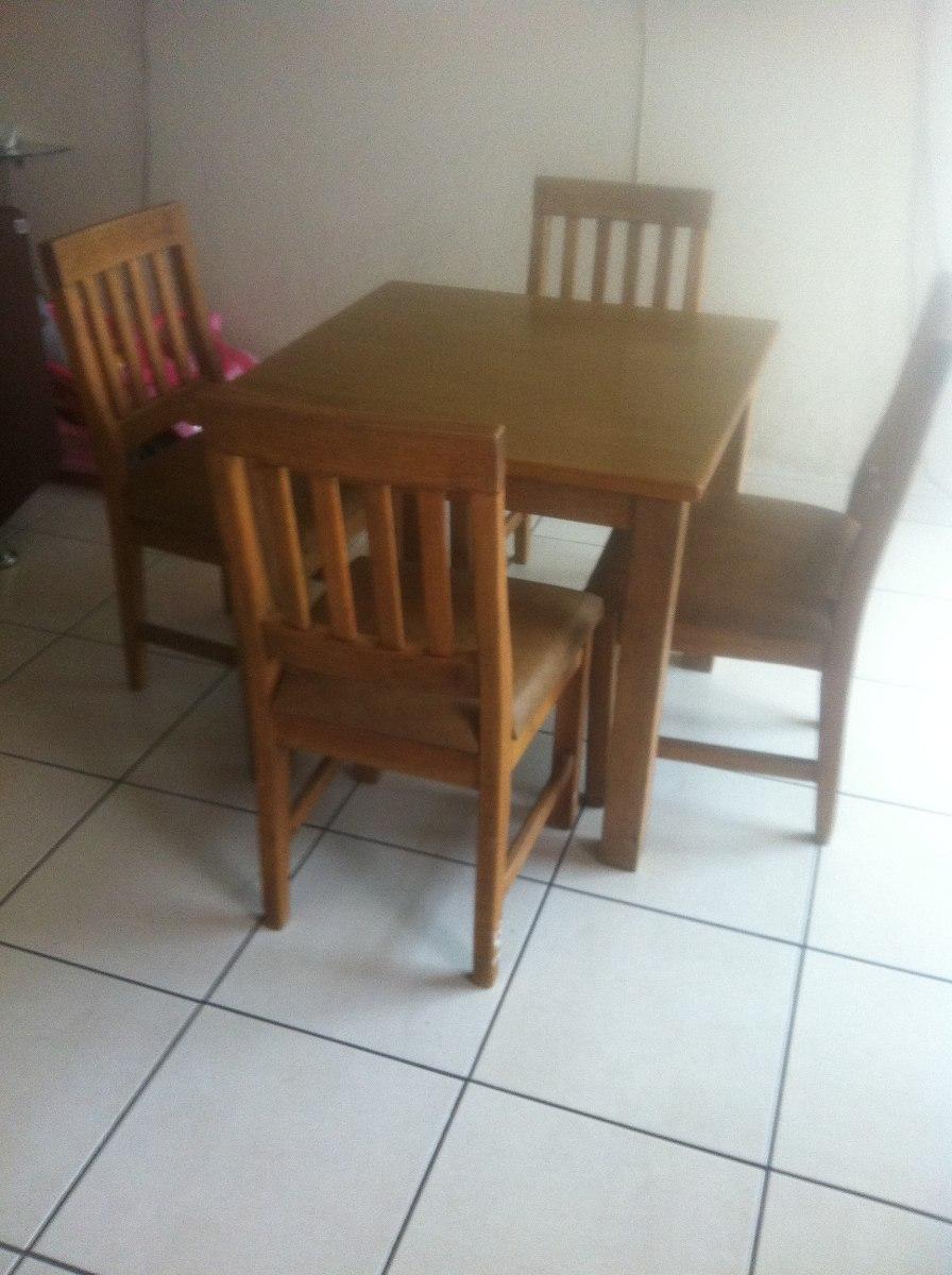 Comedor madera 4 sillas madera de calidad 3 for Precio sillas comedor