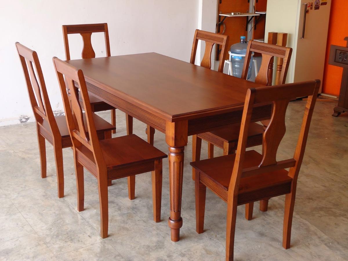 Comedor madera de cedro solo cotizacion en mercado libre - Modelos de sillas de comedor modernas ...