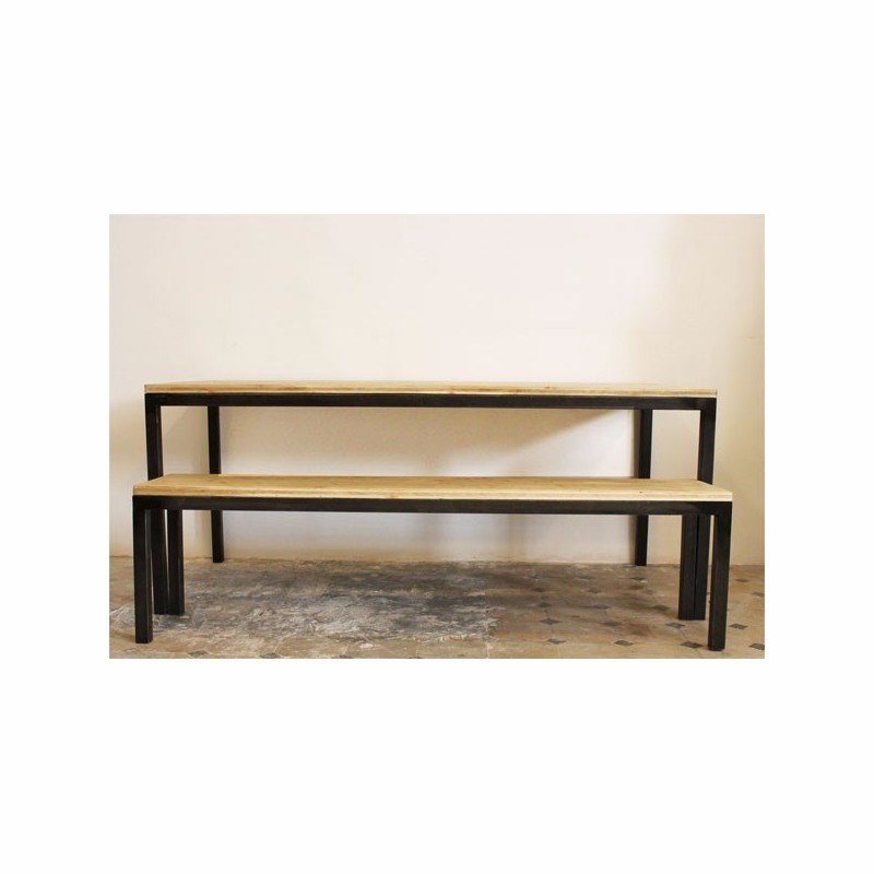 Mesa comedor escritorio moderna minimalista acero madera    8.400 ...