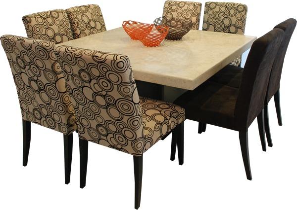 Comedor m rmol 8 sillas muebleco muebles mesa env o gratis for Comedores coppel