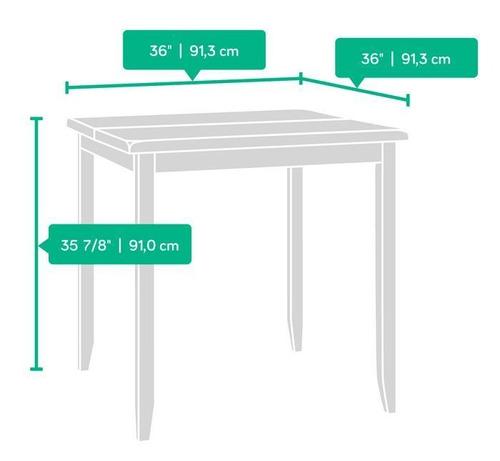 comedor mesa 2 sillas cocina casa hogar madera tono oscuro