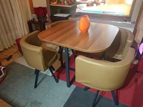 comedor   mesa con base de madera