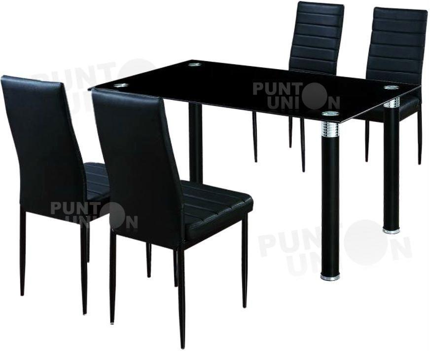 Comedor mesa de vidrio 4 sillas tapizas en cuerina 3 for Mesa 3 en 1 con 2 sillas