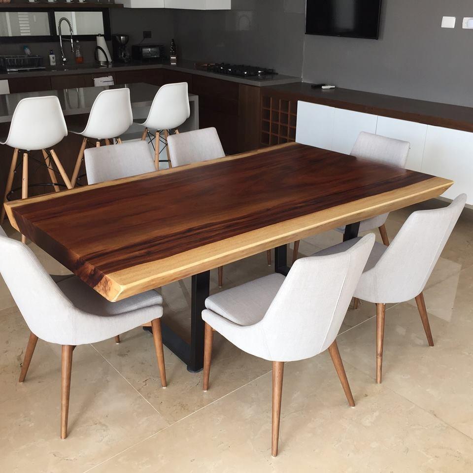 Comedor mesa madera parota moderna dise o 2 m x x 2 20 en mercado libre - Mesa madera diseno ...
