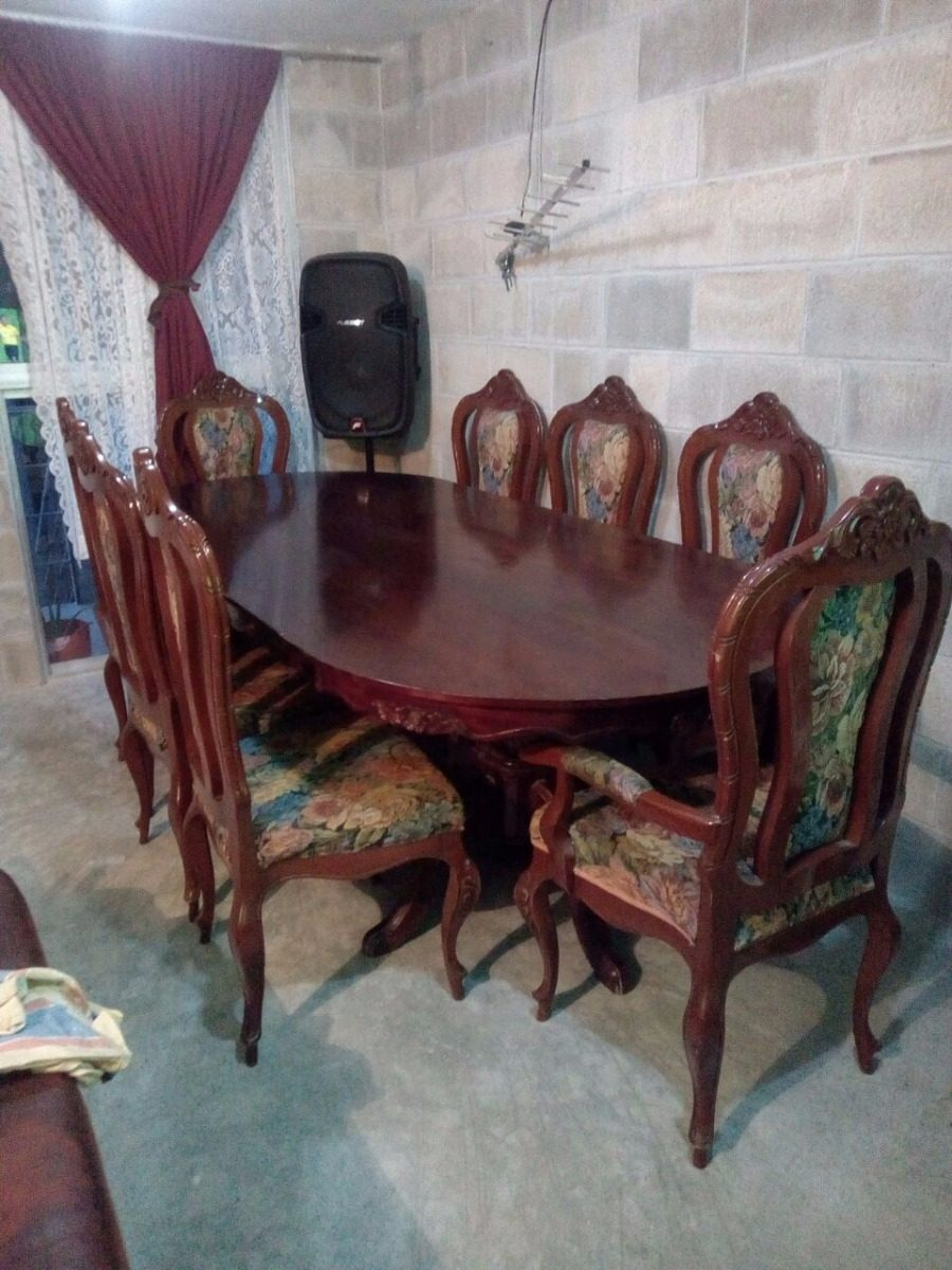Comedor mesa ovalada 8 sillas totalmente cedro 16 000 - Mesa ovalada comedor ...