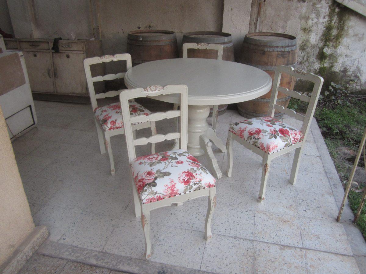 Comedor normando provenzal mesa redonda en for Comedor mesa redonda