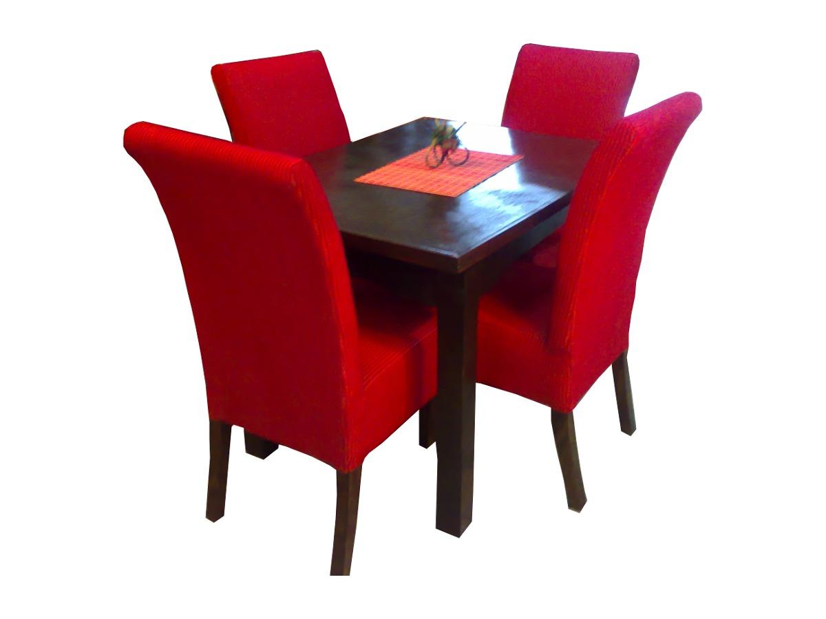 Comedor mesa y 4 sillas 100 tapizadas muy elegante fino for Mesa y sillas tapizadas
