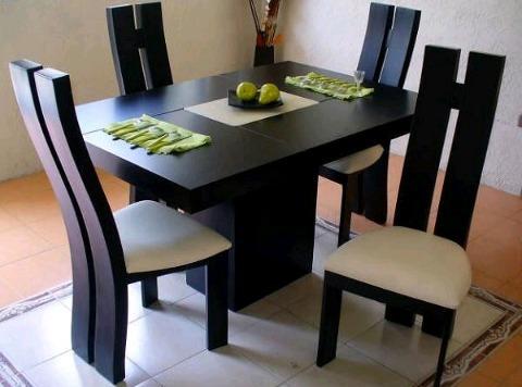 comedor minimalista 4 sillas
