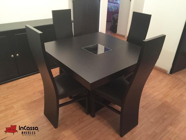 Comedor minimalista mod australia 4 sillas moderno for Comedor moderno minimalista