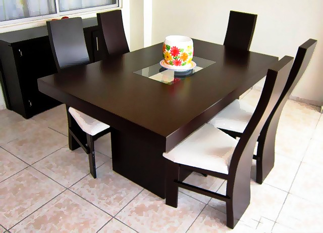 Comedor minimalista mod australia 6 sillas moderno for Comedor minimalista