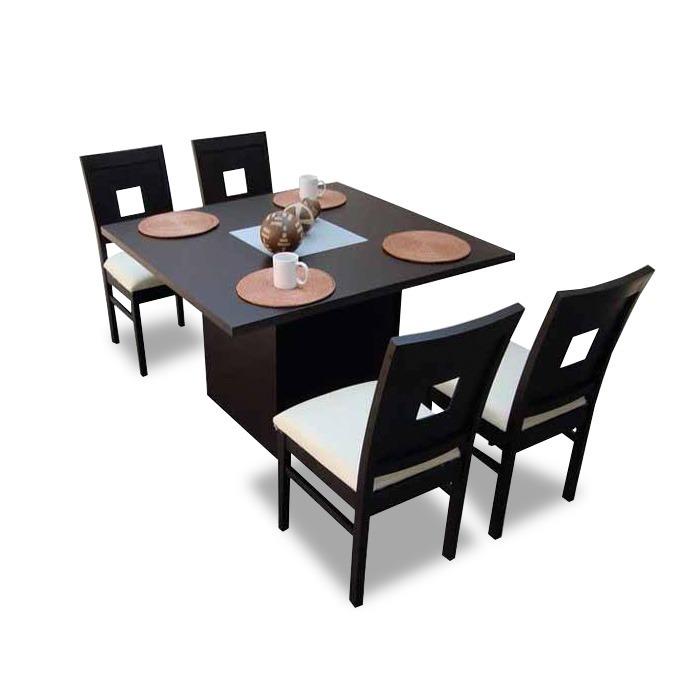 Comedor minimalista mod madrid 4 sillas moderno 4 990 Comedor 4 sillas moderno