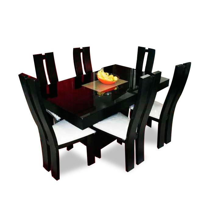 Comedor minimalista mod san diego 6 sillas moderno for Comedor 6 sillas moderno