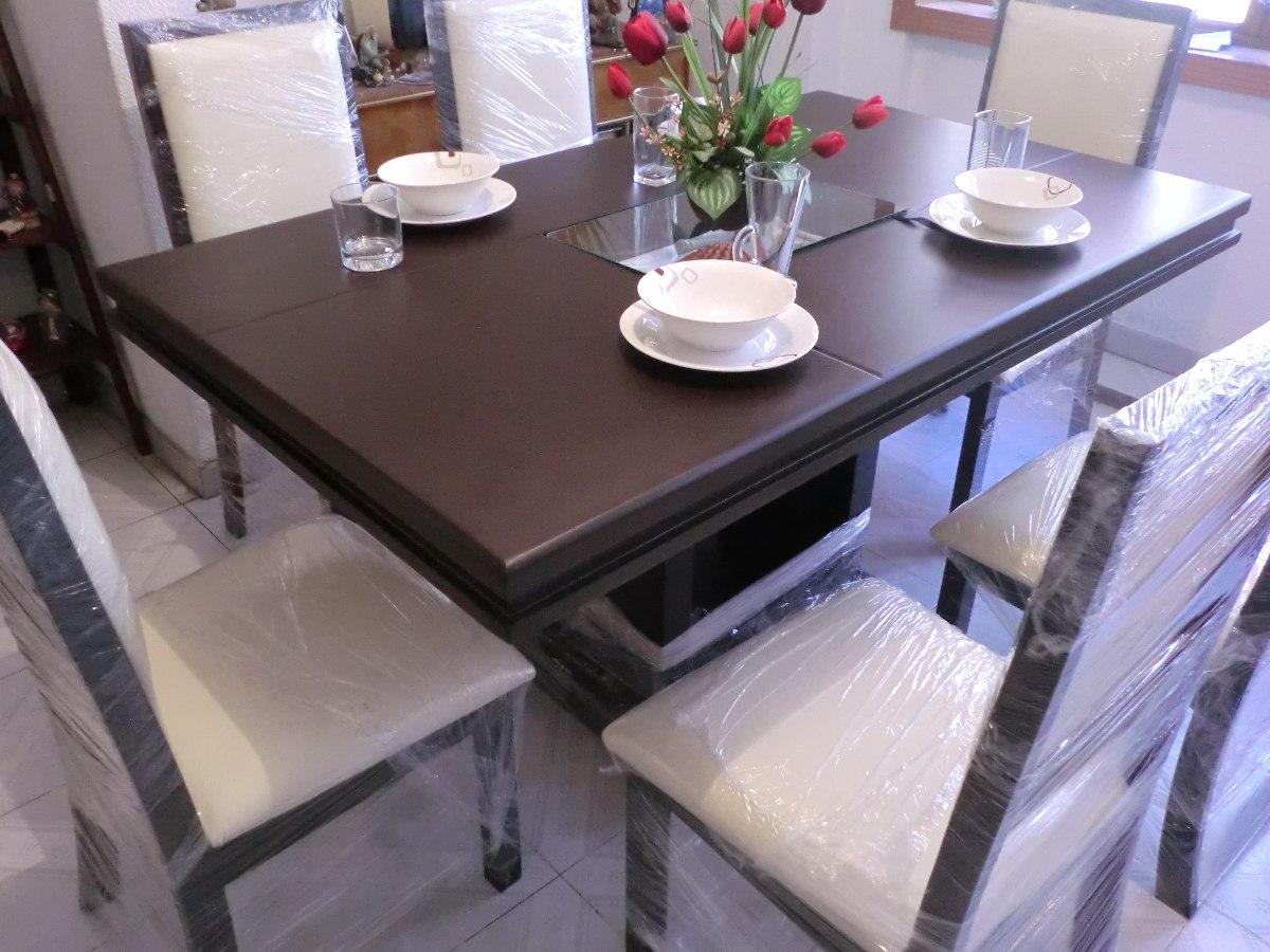 Comedor minimalista moderno nuevo 6 sillas madera for Comedor de madera 6 sillas