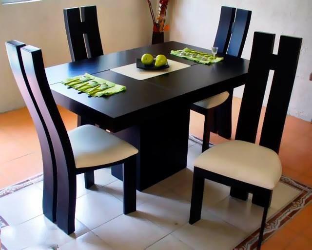 comedor mod san diego 4 sillas minimalista garantia
