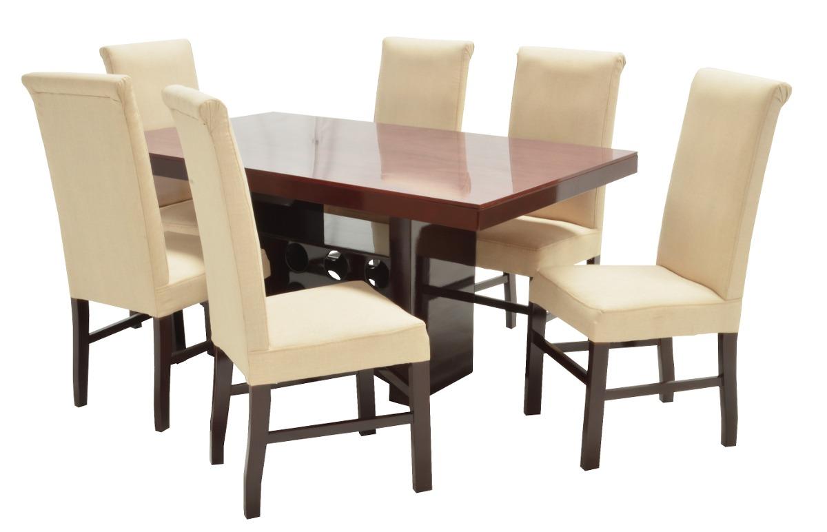 Comedor moderno adonia 6 sillas fabou muebles for Muebles modernos sillas