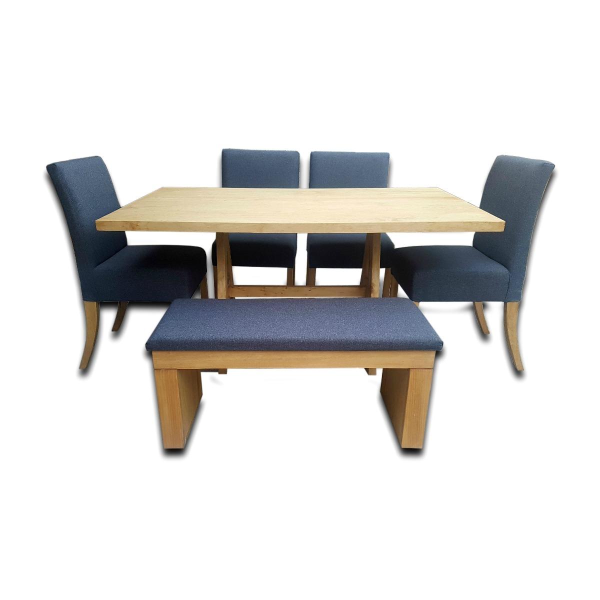 Comedor moderno con banca para 6 personas de madera vr for Comedor moderno de madera