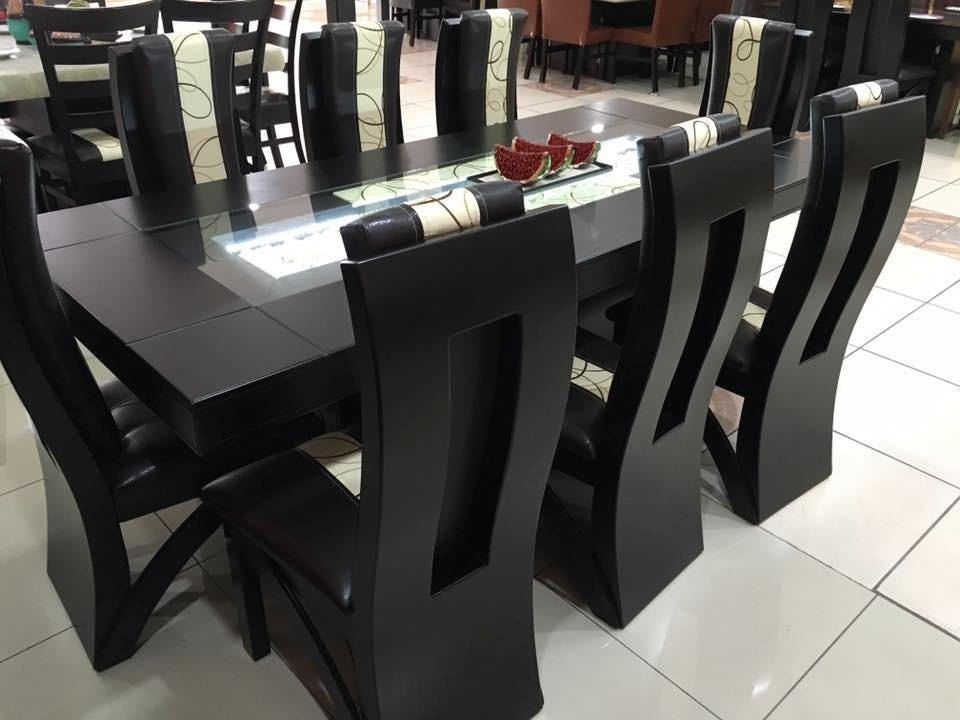 Comedor moderno rectangular 8 sillas 19 en for Muebles modernos sillas