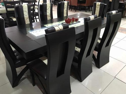 comedor moderno rectangular 8 sillas