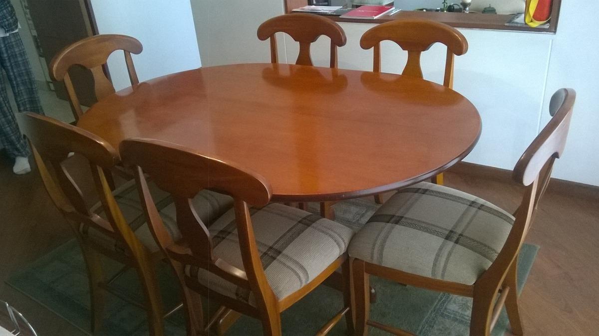 Muebles comedor 6 puestos en madera de muebles y for Muebles comedor madera