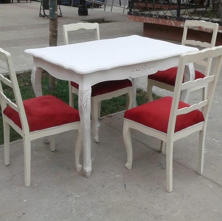 Comedor Normando 120*80 + 4 Sillas Nuevo Mueble Vintage - $ 370.000 ...