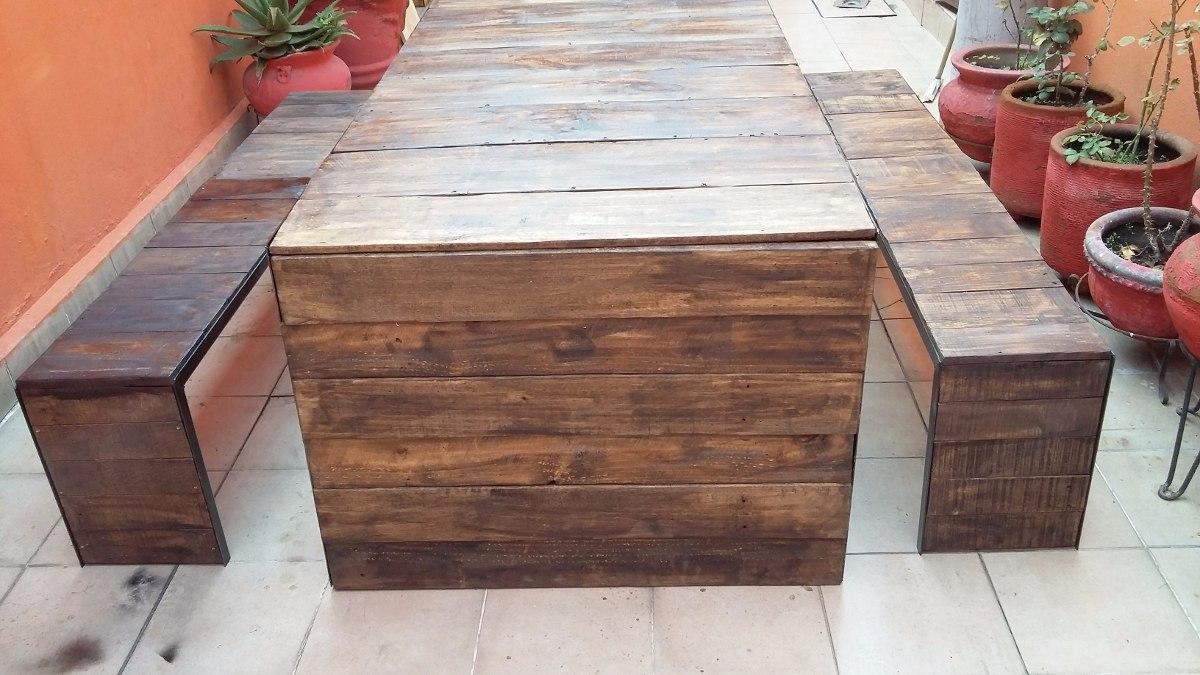 Comedor palet vintage madera reciclada pallets tarima for Precio tarima madera