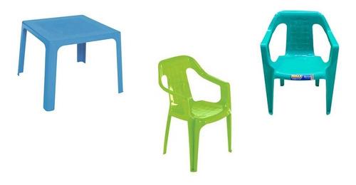 comedor para niños plastico  + 2 sillas marca rimax