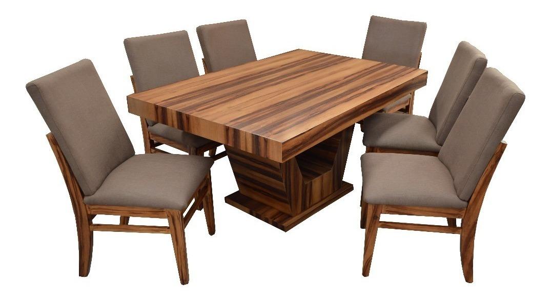mueble comedor con 6 sillas