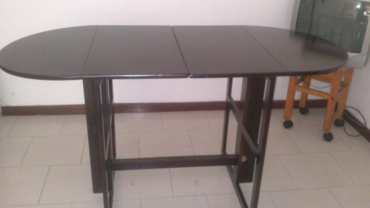Comedor plegable madera alta calidad solo mesa bs 0 18 for Mesa comedor plegable