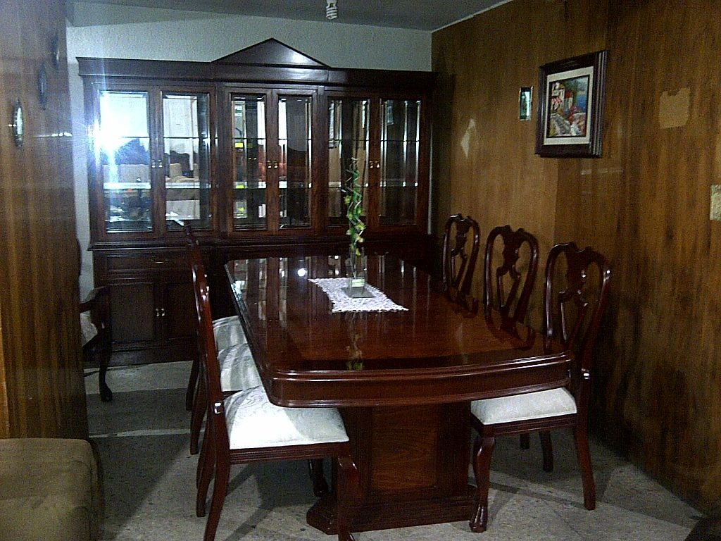 Comedor Provenzal Modernista Tallado A Mano En Madera Fina  $ 78,950