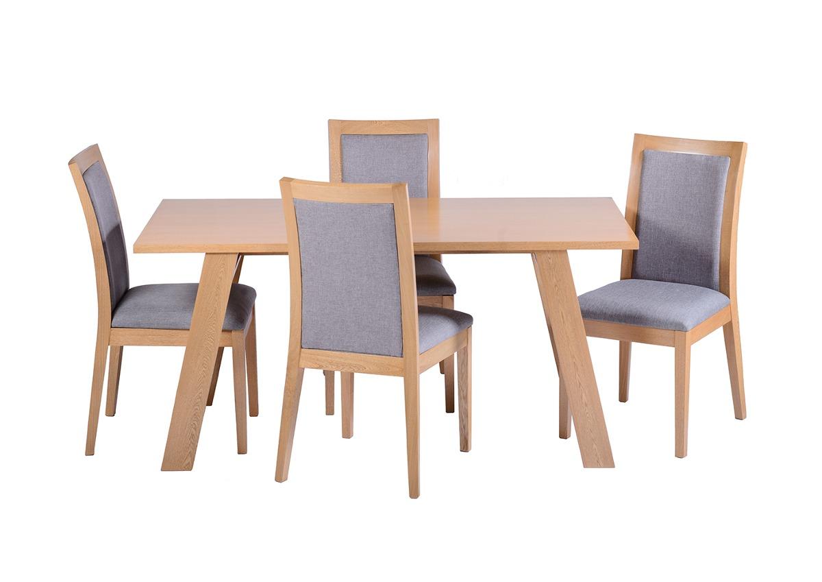 Comedor rectangular madera pino 4 sillas madera viva 21 en mercado libre for Comedor 4 sillas madera