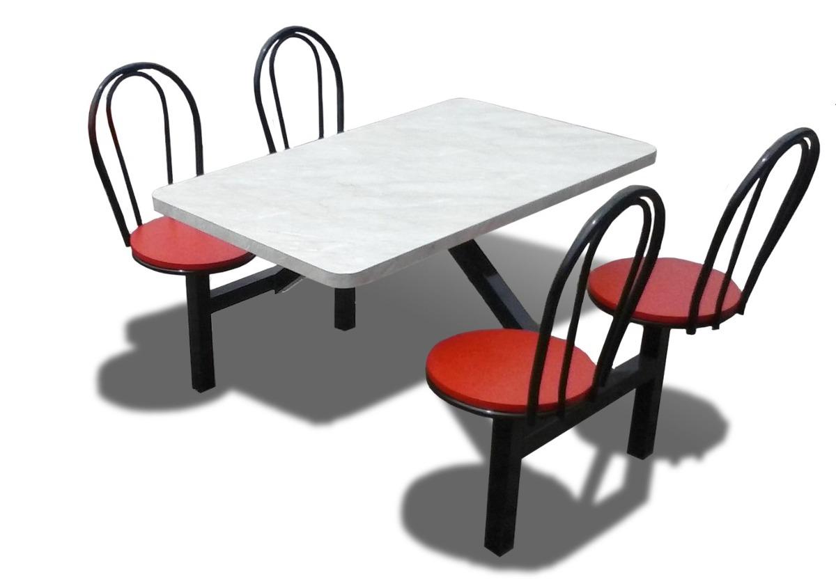 Comedor Restaurante Mesa 4 Sillas Metalico - $ 6,000.00 en Mercado Libre