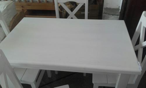 comedor rustico | 4 sillas| fabricación nacional| montetrani