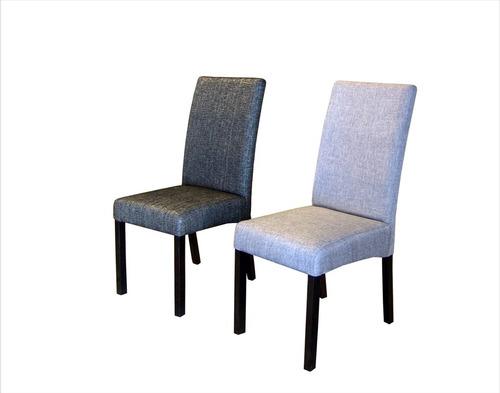 comedor seis sillas tapizadas, muebles el angel