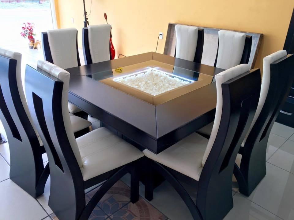 Comedor moderno minimalista 8 sillas cuadrado comedores for Comedor moderno minimalista