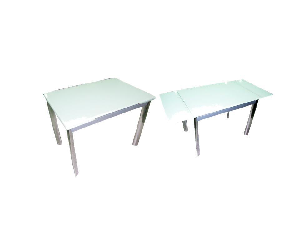 Juego de comedor extensible con 6 sillas vidrio blanco for Precio juego de comedor con 6 sillas
