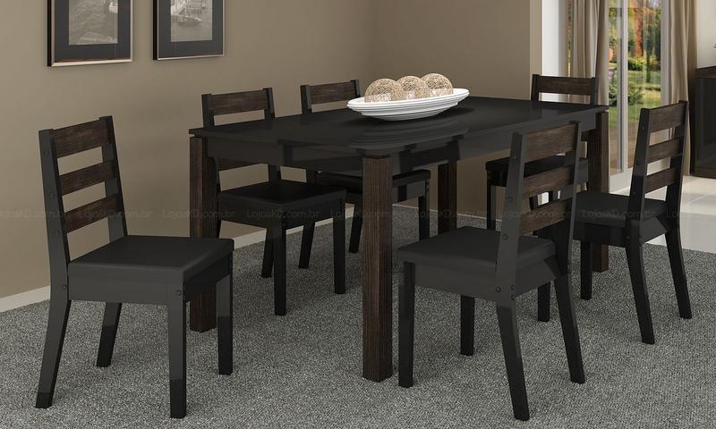 Juego de comedor 6 sillas moderno dise o modelo braga for Comedor 6 sillas moderno