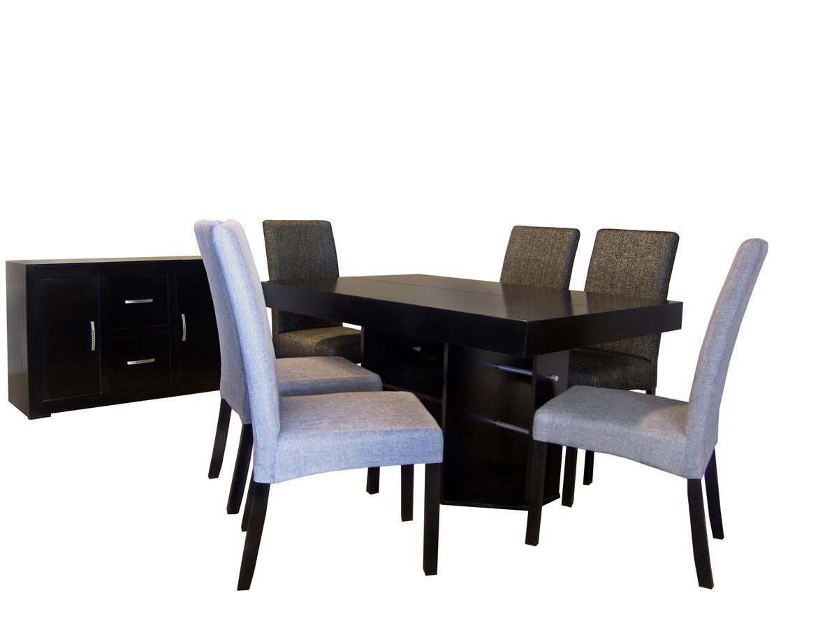 Comedor seis sillas tapizadas muebles el angel 9 890 for Muebles sillas comedor