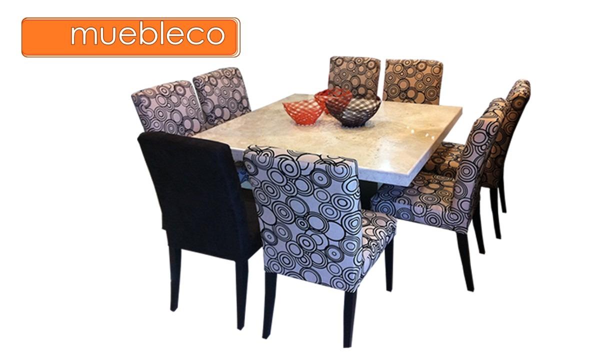 Comedor m rmol 8 sillas muebleco muebles mesa env o gratis - Sillas de mesa de comedor ...