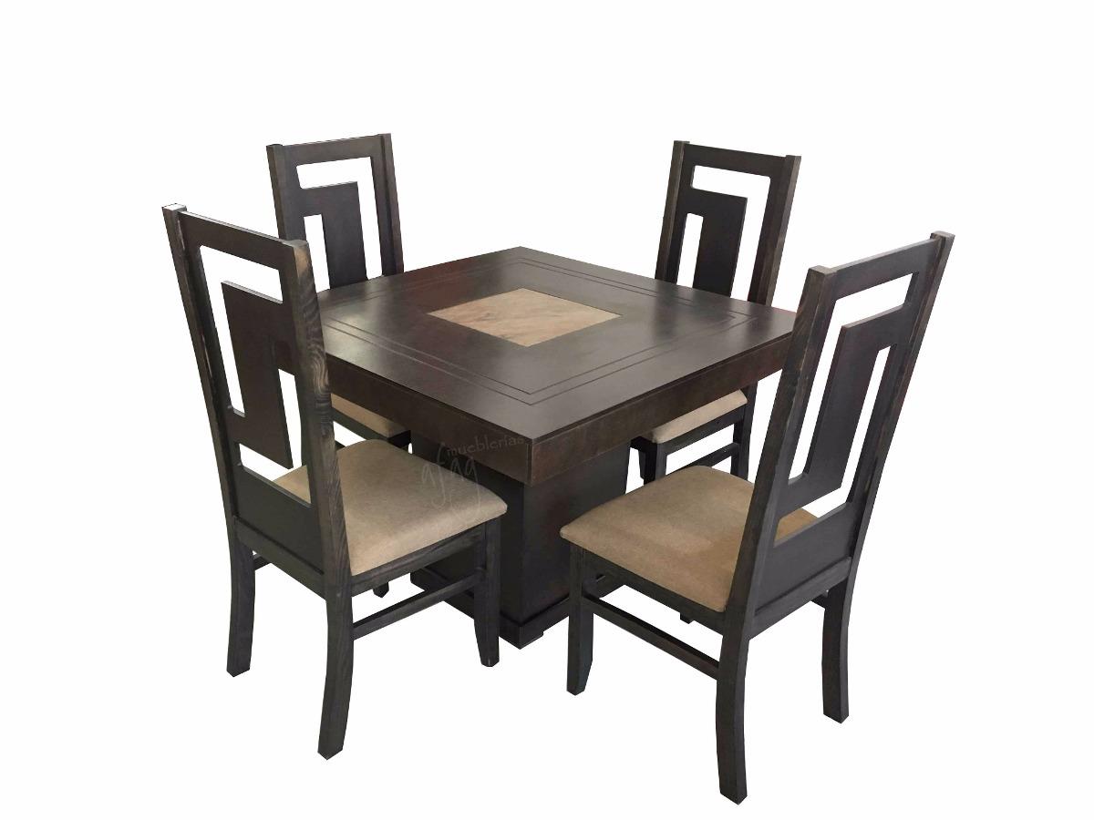 Comedor vintage olivo mesa cuadrada y 4 sillas 5 990 - Sillas de plastico ikea ...
