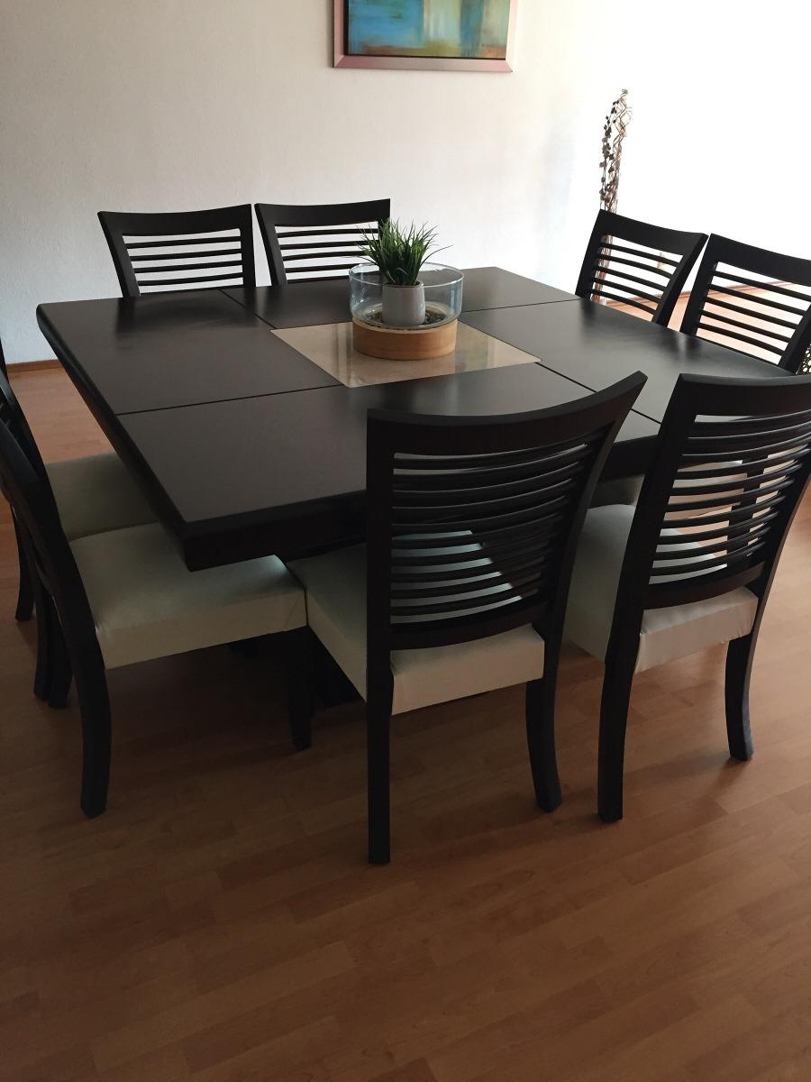 Comedor y buffetera con marmol y 8 sillas con piel blanca - Sillas comedor piel ...