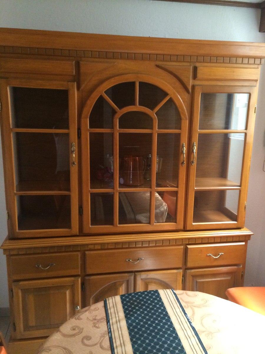 Comedor y vitrina en madera 6 sillas de la marca placencia - Vitrinas de madera para comedor ...