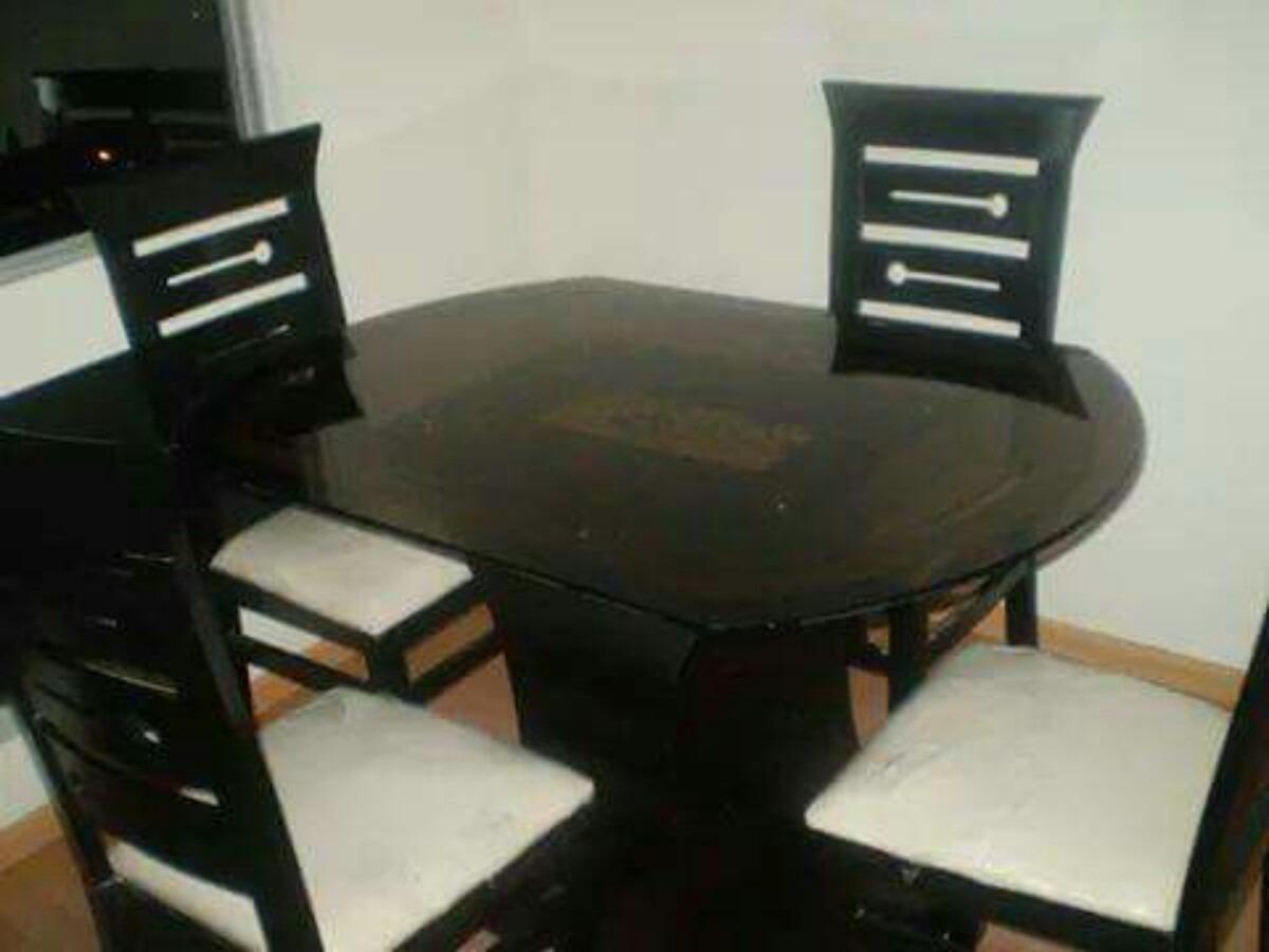 Comedores de 4 sillas en madera tornillo a 650 soles for Comedores altos de 4 sillas