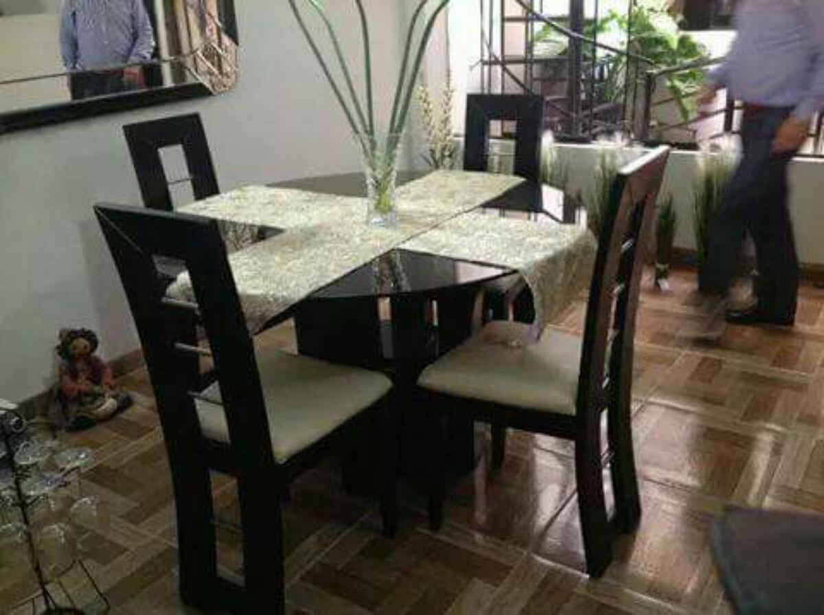 Comedores de 4 sillas en madera tornillo a 699 soles Comedores de madera redondos modernos