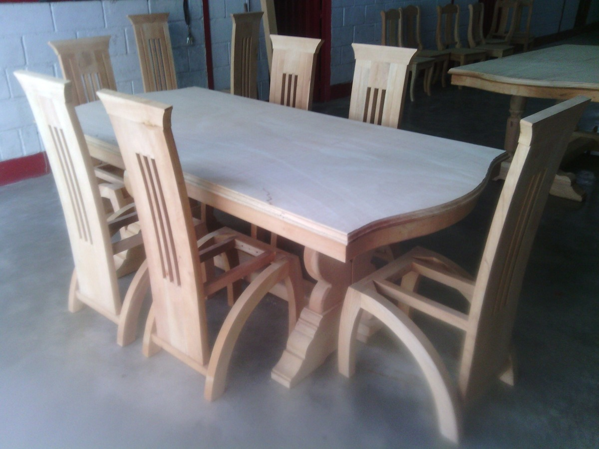 Comedores de 6 y 8 puestos bs en mercado libre for Comedores de madera nuevos
