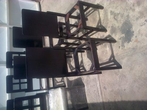 comedores de 8 puestos loreto tela bipiel mesas cojines puff