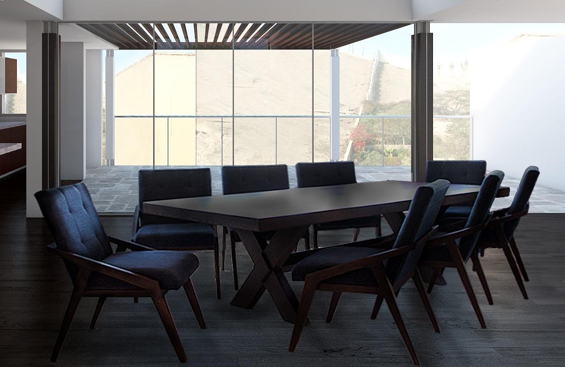 Comedores modernos de 8 6 sillas y banca vintage for Comedores 6 sillas elektra