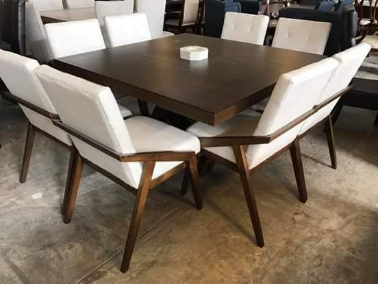 Comedores modernos de 8 6 sillas y banca vintage for Comedores modernos con banca