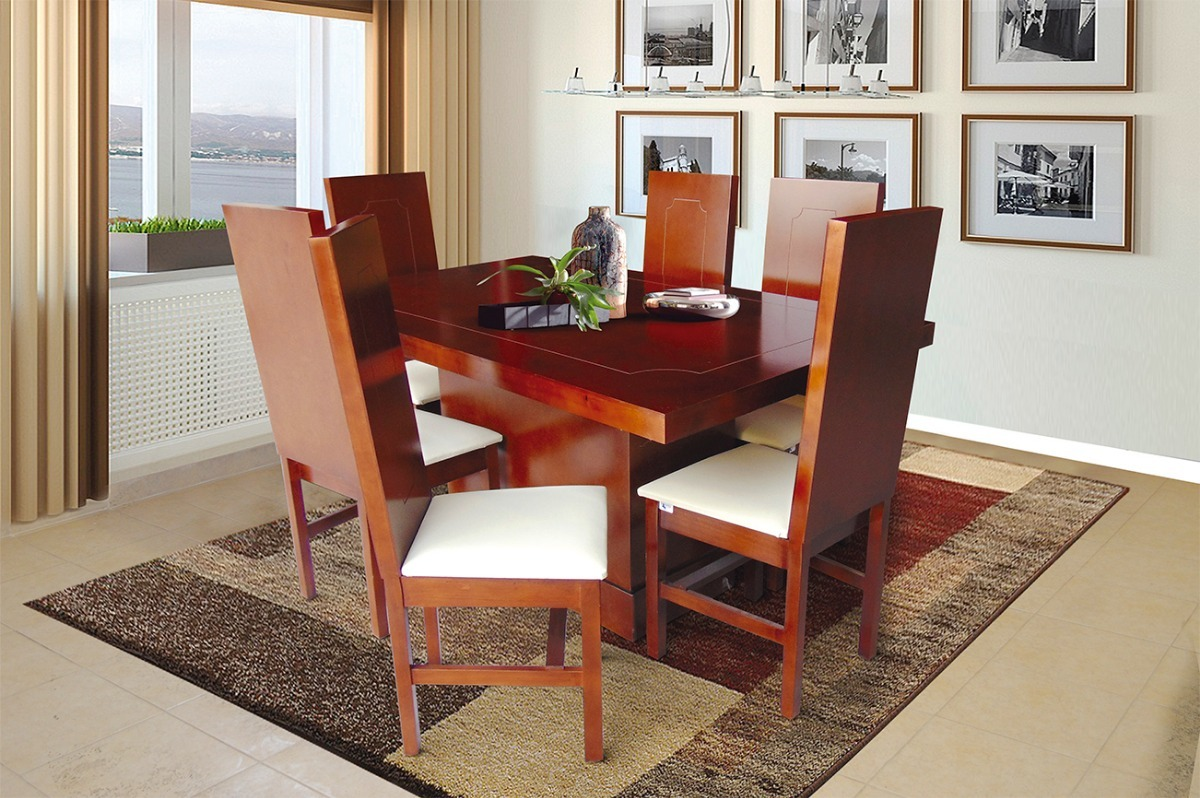 Comedores modernos minimalistas baratos rusticos 6 sillas for Comedores rusticos modernos